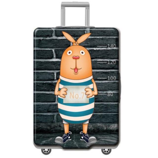 ผ้าคลุมกระเป๋าเดินทางแบบยืด 18-32 นิ้วลายกระต่าย No.7