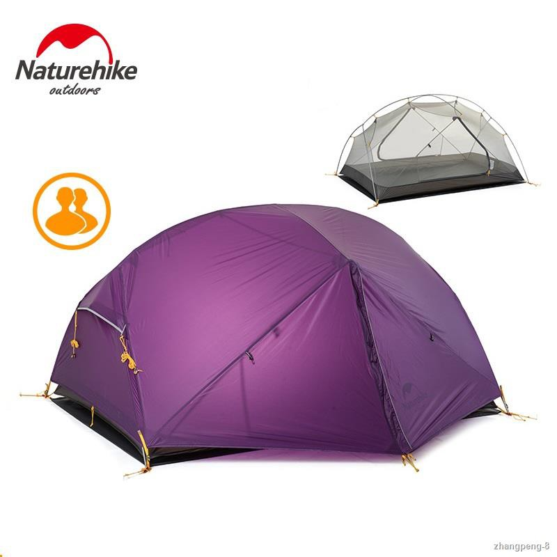 ¤℡Naturehike New Mongar 2 Tent, 2 Person Camping Tent Outdoor Ultralight 2 Man Camping Tents With Vestibule