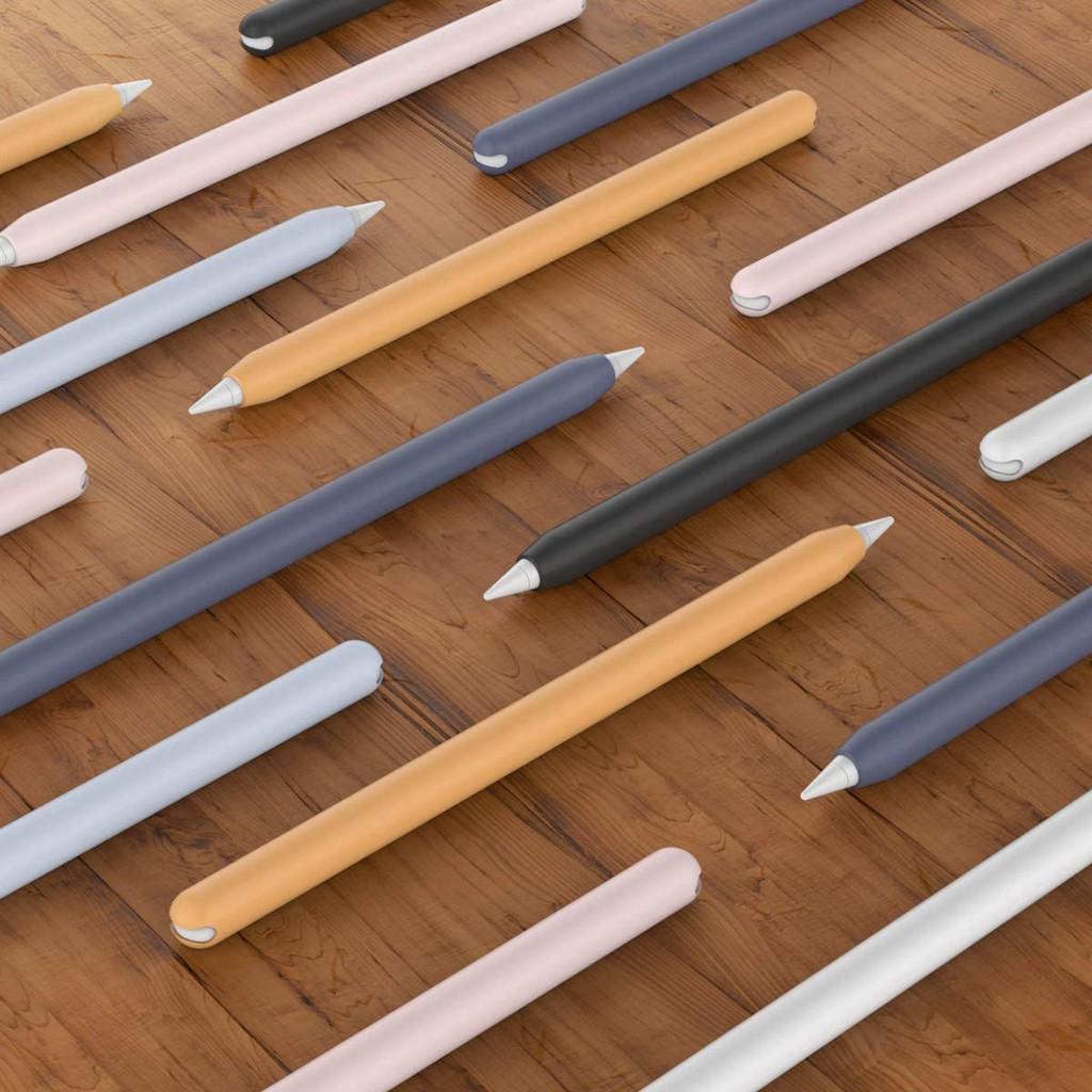 ♗⊙✳เคสซิลิโคน แบบนุ่ม บาง สำหรับปากกา Apple Pencil 2nd Gen Silicone Case Sleeve 2 ชิ้น