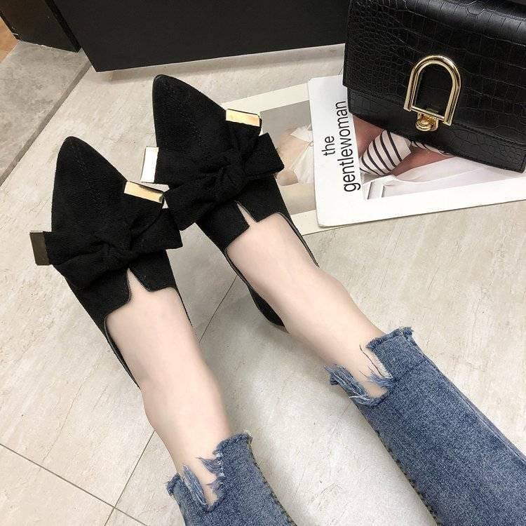 รองเท้าผู้หญิง รองเท้าเปิดส้น💎รองเท้าคัทชูหนังนิ่ม💎รองเท้าคัทชูหัวแหลม💎รองเท้าแฟชั่นของผู้หญิง รองเท้าคัชชูหัวแหลม