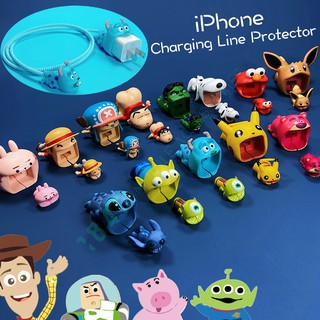 Review ชุดสามชิ้น Charging cable protector for iPhone 6 6S 6plus 7 7plus 8 8plus ix ixs xr xsmax 11