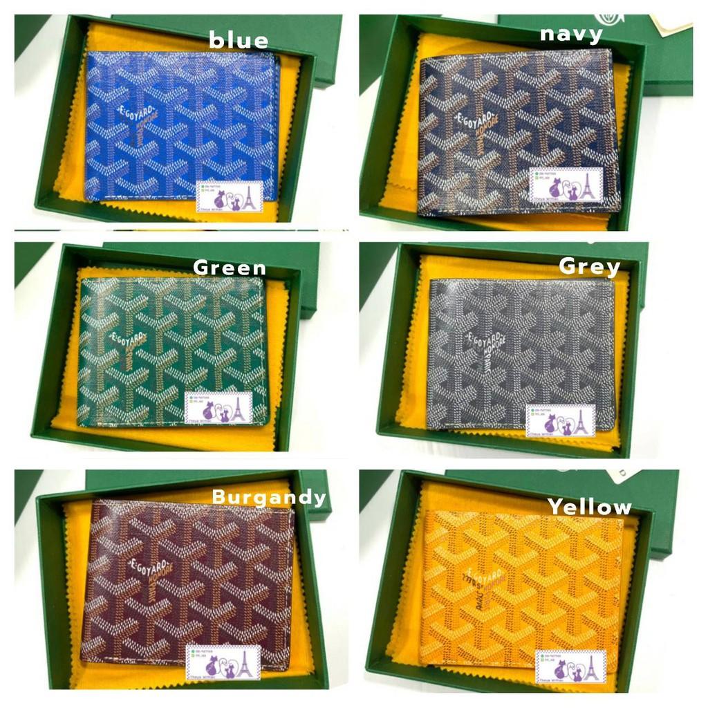 Goyard Men Wallet Victoire 8 cards In in Monogram Chevron Canvas กระเป๋าสตางต์ สีสวยๆเพียบ💕2021💕 ของแท้