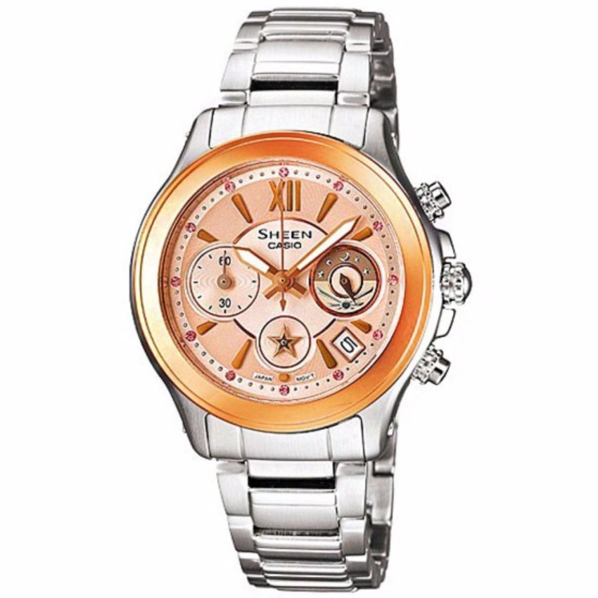 Casio นาฬิกาข้อมือผู้หญิง สายสแตนเลส รุ่น SHN-5509SG-9A - Silver/RoseGold  รับประกันศูนย์ 1 ปี  ของแท้