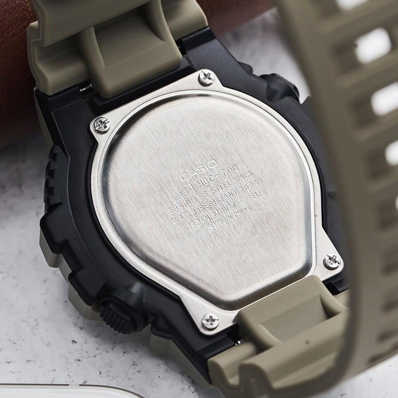 เทรนด์นาฬิกาข้อมือนักเรียนชาย Casio แสดงผลคู่นาฬิกาสปอร์ตกันน้ำ HDC-700-3A3
