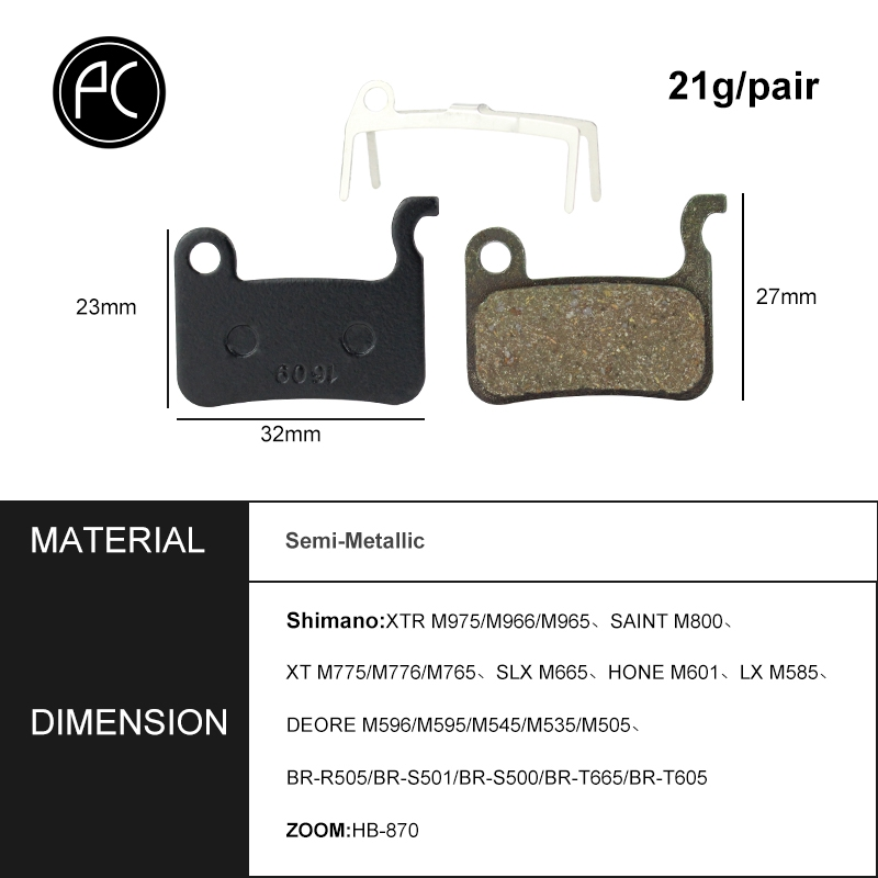 2 Pairs MTB Bicycle Resin Disc Brake Pads For Shimano Deore M596 HONE M601 LX