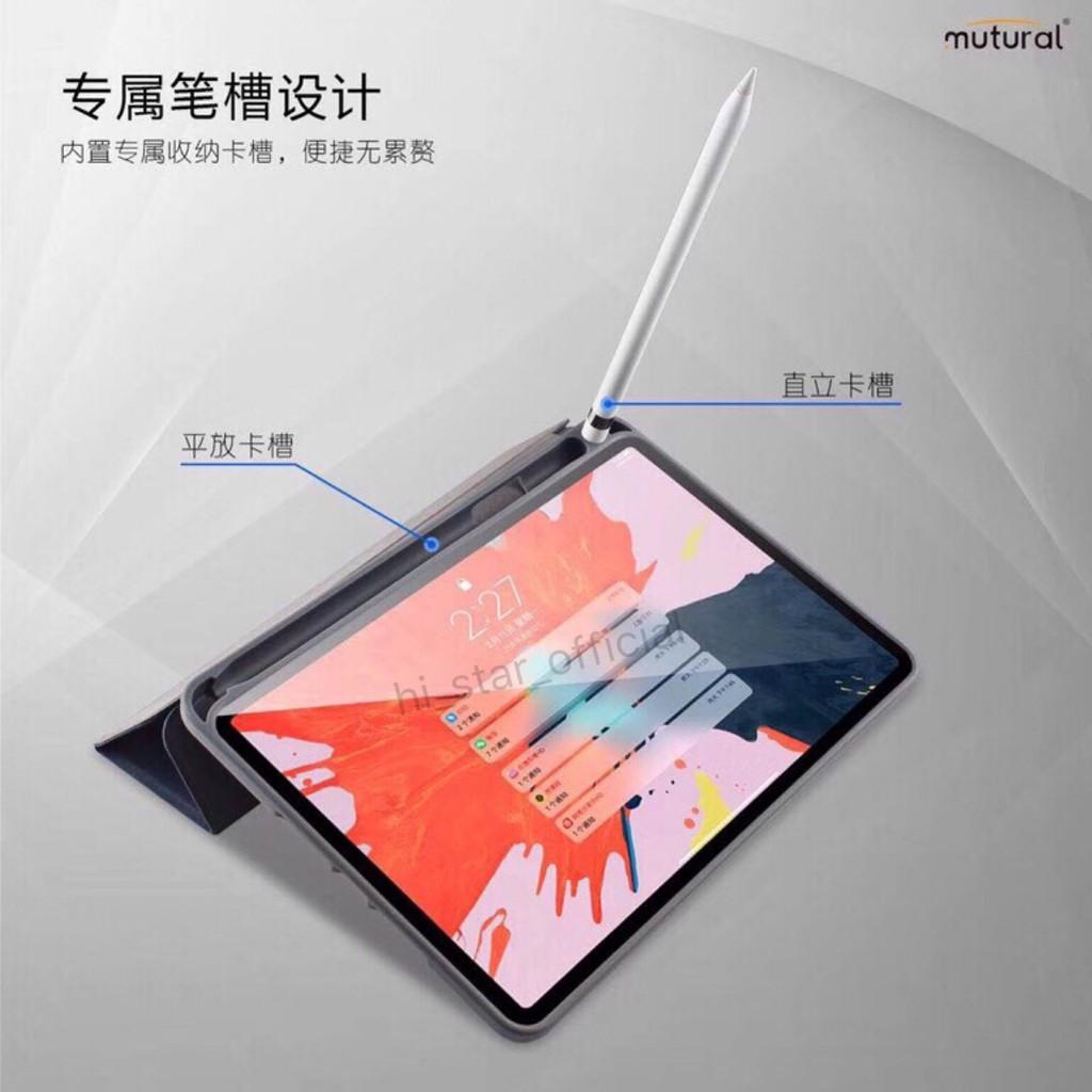 Mutural เคส iPad 10.2/Pro11/Pro12.9 เคสกันกระแทก เคสไอแพตแบบมีฝาปิด มีช่องปากกา iPad Case With Apple Pencil 39wz--&*