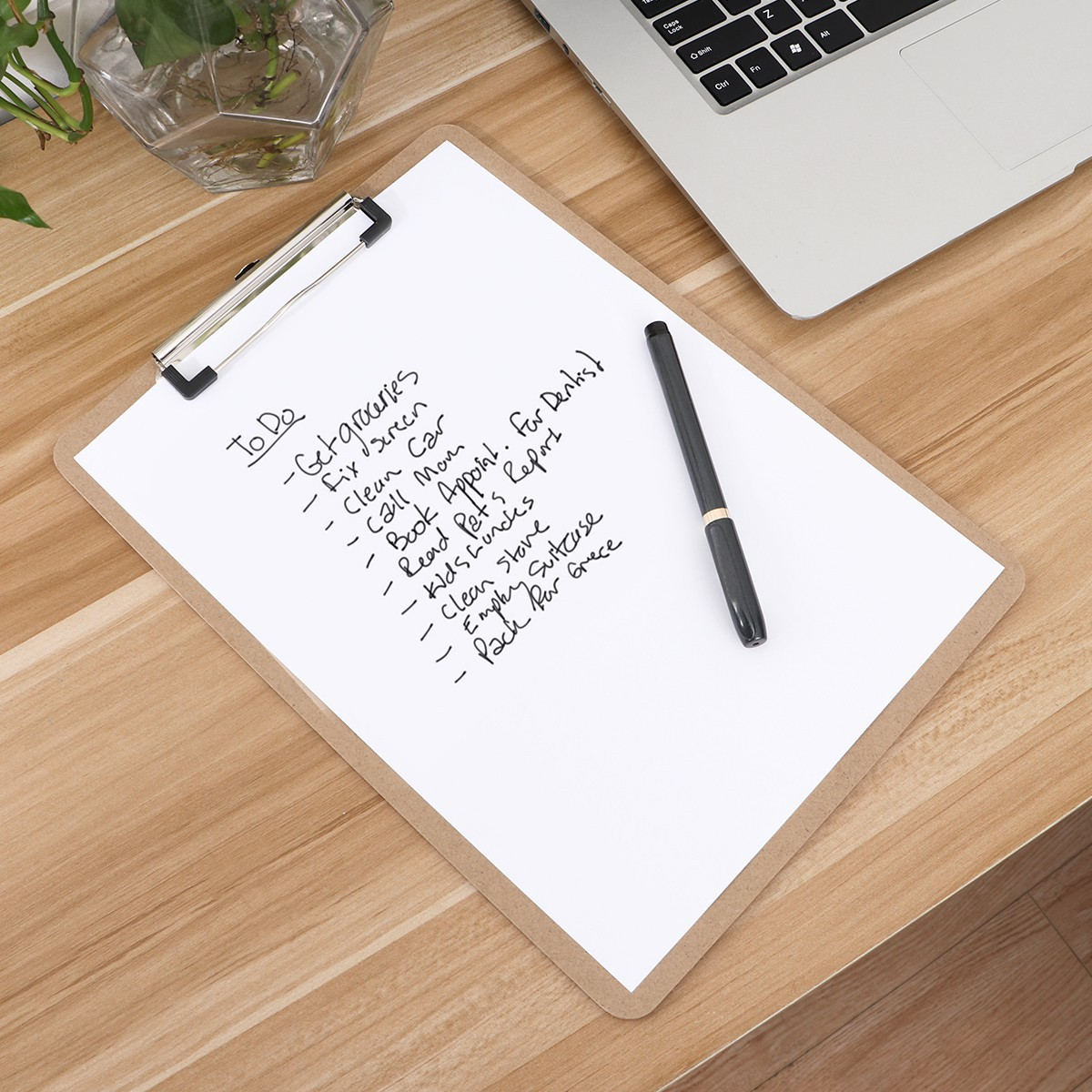 STOBOK A4 Letter Size Clipboard Low Profile Clip Hardboards for Office Working,Set of 6