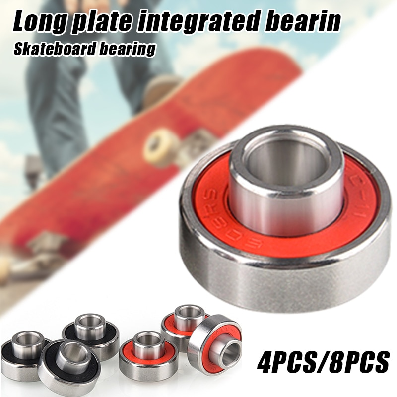 8Pcs Longboard Skateboard Bearings for Quad Skates Scooters Roller Skates ABEC-7