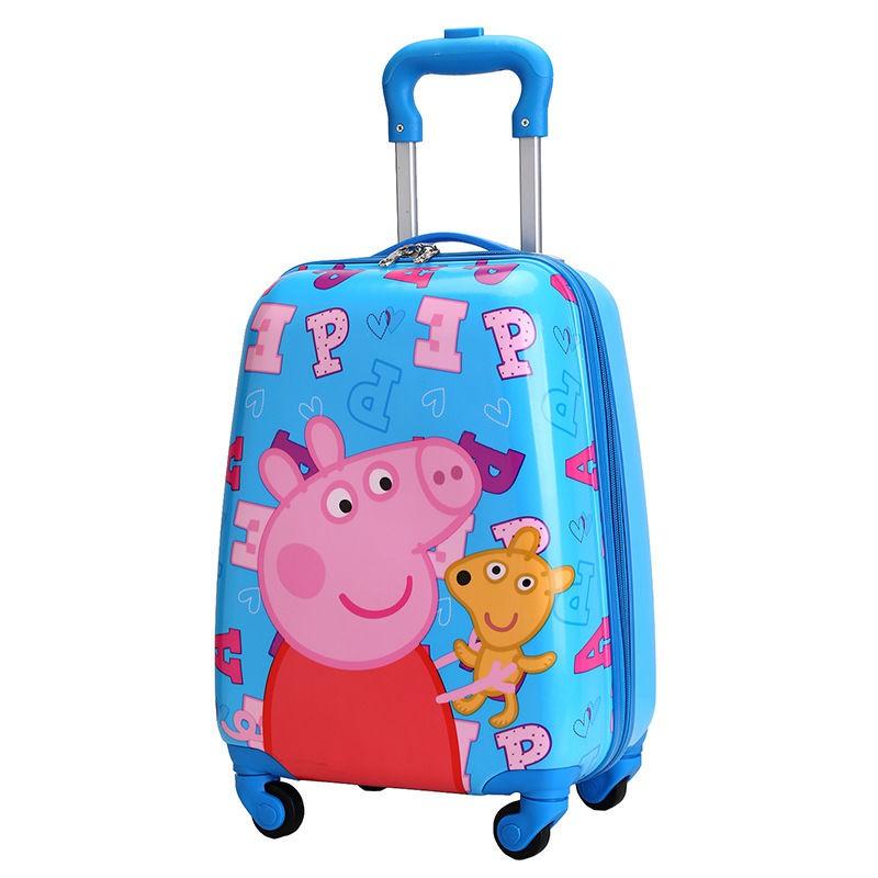 ❅❀✗18- รถเข็นเด็กนิ้ว, กระเป๋าเดินทางเด็ก, กระเป๋าเดินทางล้อลากสากลชายและหญิง, กระเป๋าเดินทาง, การ์ตูนเจ้าหญิงห้าสาว