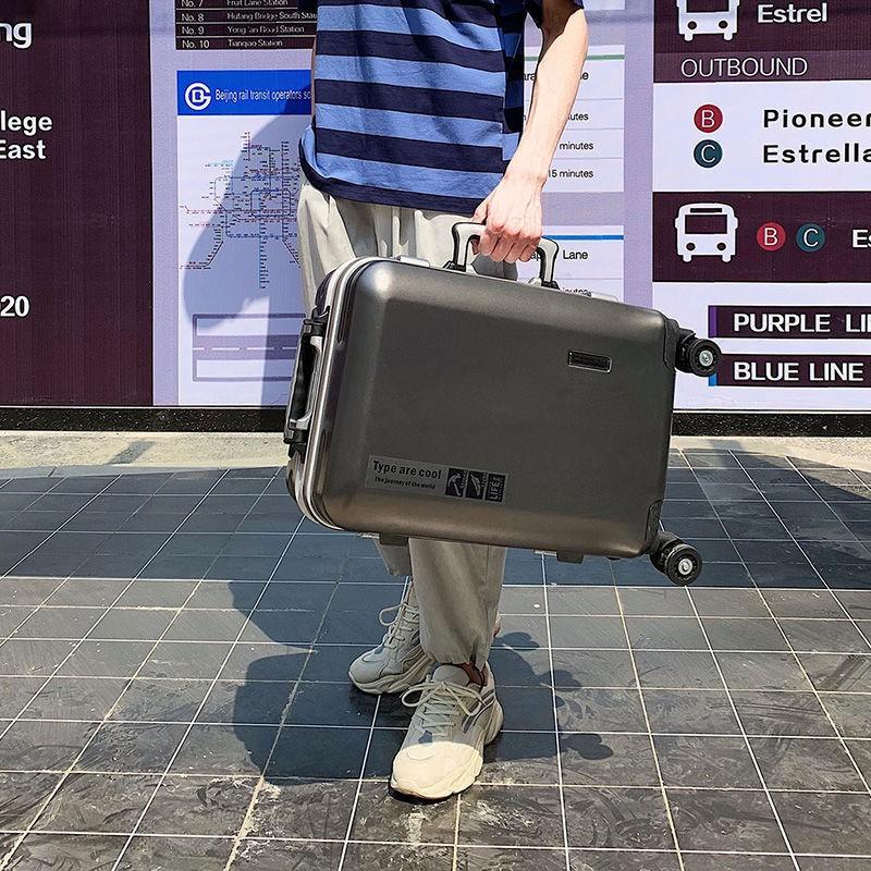 ❅卍⊙ทนทาน Wanxiang อลูมิเนียมกล่องกระเป๋าผู้ชายและผู้หญิงธุรกิจกระเป๋าเดินทางแสงอัลตร้ากรณีรถเข็นนักเรียน 20 นิ้ว 24 26