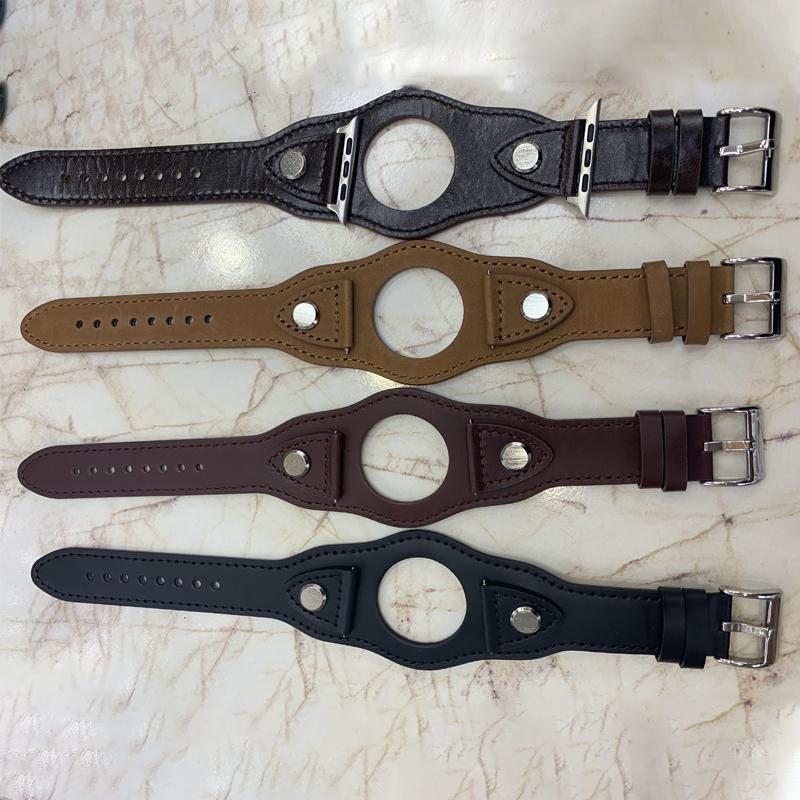 สายนาฬิกาข้อมือสายหนังสําหรับ Apple Watch Series 5 Band 38มม.-44มม. Iwatch 38มม.-44มม. สําหรับ Apple Watch Series