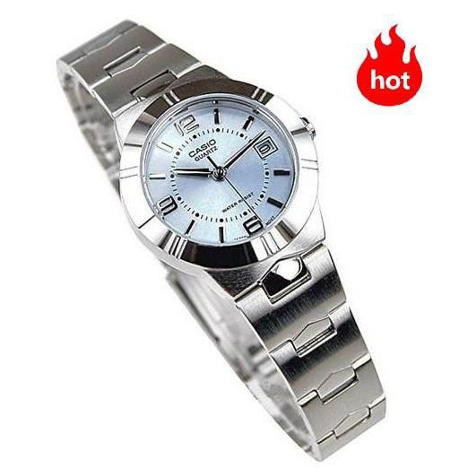 นาฬิกาข้อมือ นาฬิกาข้อมือแฟชั่น Casio ผู้หญิง สายสแตนเลส รุ่น LTP-1241D-2A - มั นาฬิกาข้อมือ นาฬิกาแฟชั่น(เลือกสีทักแชท)