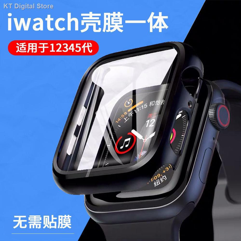 【อุปกรณ์เสริมของ applewatch】♘▬ใช้ได้กับ applewatch6 SE ฟิล์มนิรภัยแบบออล - อิน วันฟิล์มกันรอยของ Apple เชลล์ iwatch54