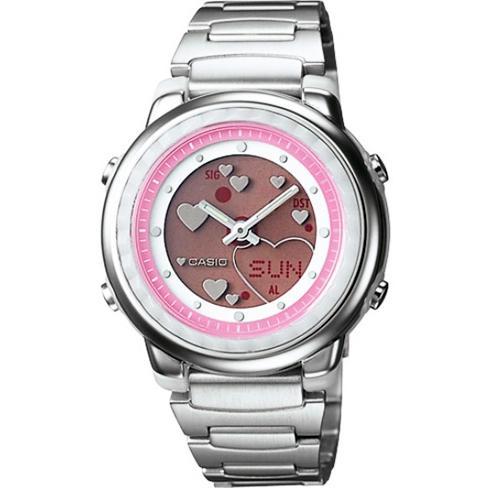 (จุดด่างพร้อย)Casio POPTONE นาฬิกาข้อมือผู้หญิง/เด็ก สายสแตนเลส รุ่น LAW-25D-4A