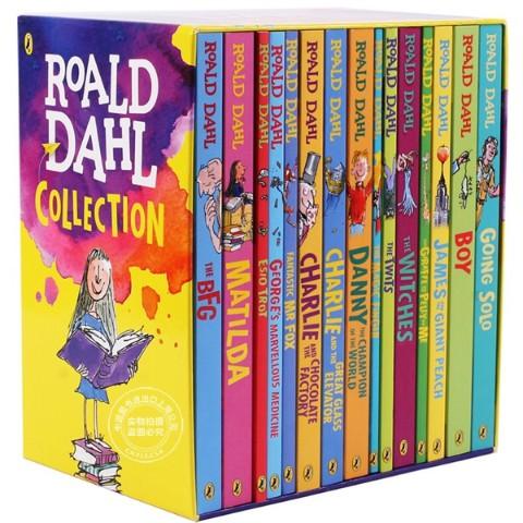 15 Books Set Roald Dahl English Story Stories Book Reading Material For Kids Children Boys Girls tV9o