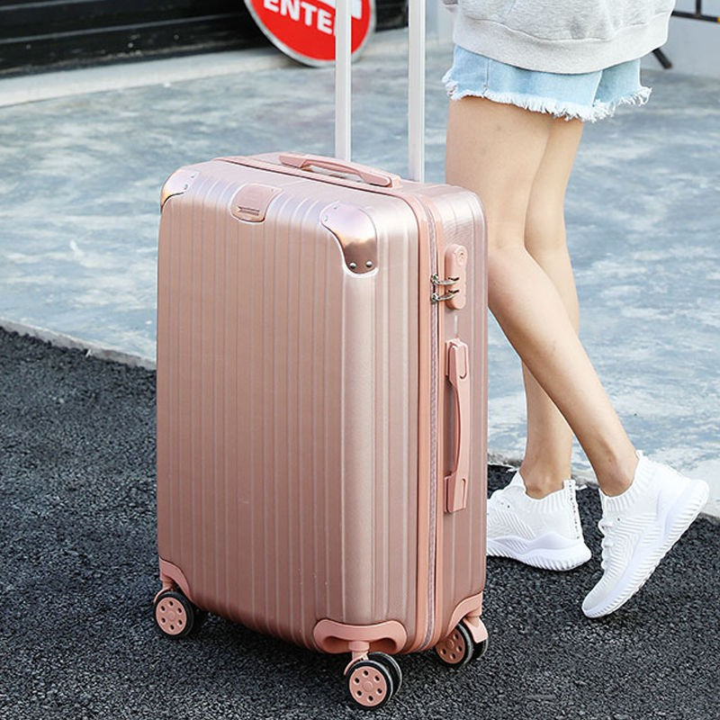 ✲✴♞Omilanqi กระเป๋าเดินทางหญิง ins สุทธิรถเข็นสีแดงกระเป๋าเดินทาง 24 นิ้ว 20 นิ้วเกาหลีรหัสผ่านกระเป๋าเดินทาง