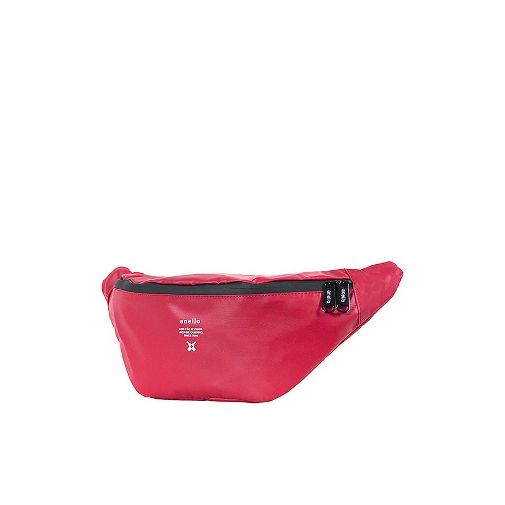 กระเป๋าคาดอก Water proof รุ่น Square OS-N056 สีแดงเข้ม กระเป๋า ผู้หญิง กระเป๋าคาดเอว ANELLO รุ่น Waterproof Series