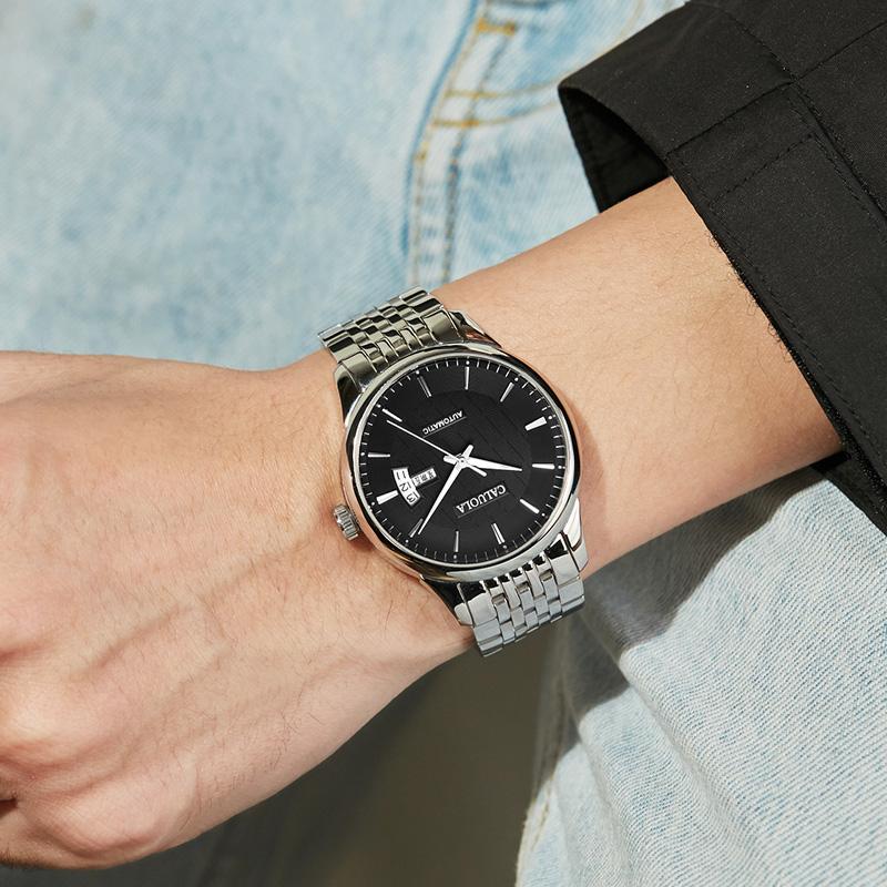 モべสายนาฬิกา gshockสายนาฬิกา smartwatchสายนาฬิกา applewatchแคโรไลน์นาฬิกาผู้ชายที่เรียบง่ายกันน้ำเข็มขัดเหล็กนาฬิกาจักรกล