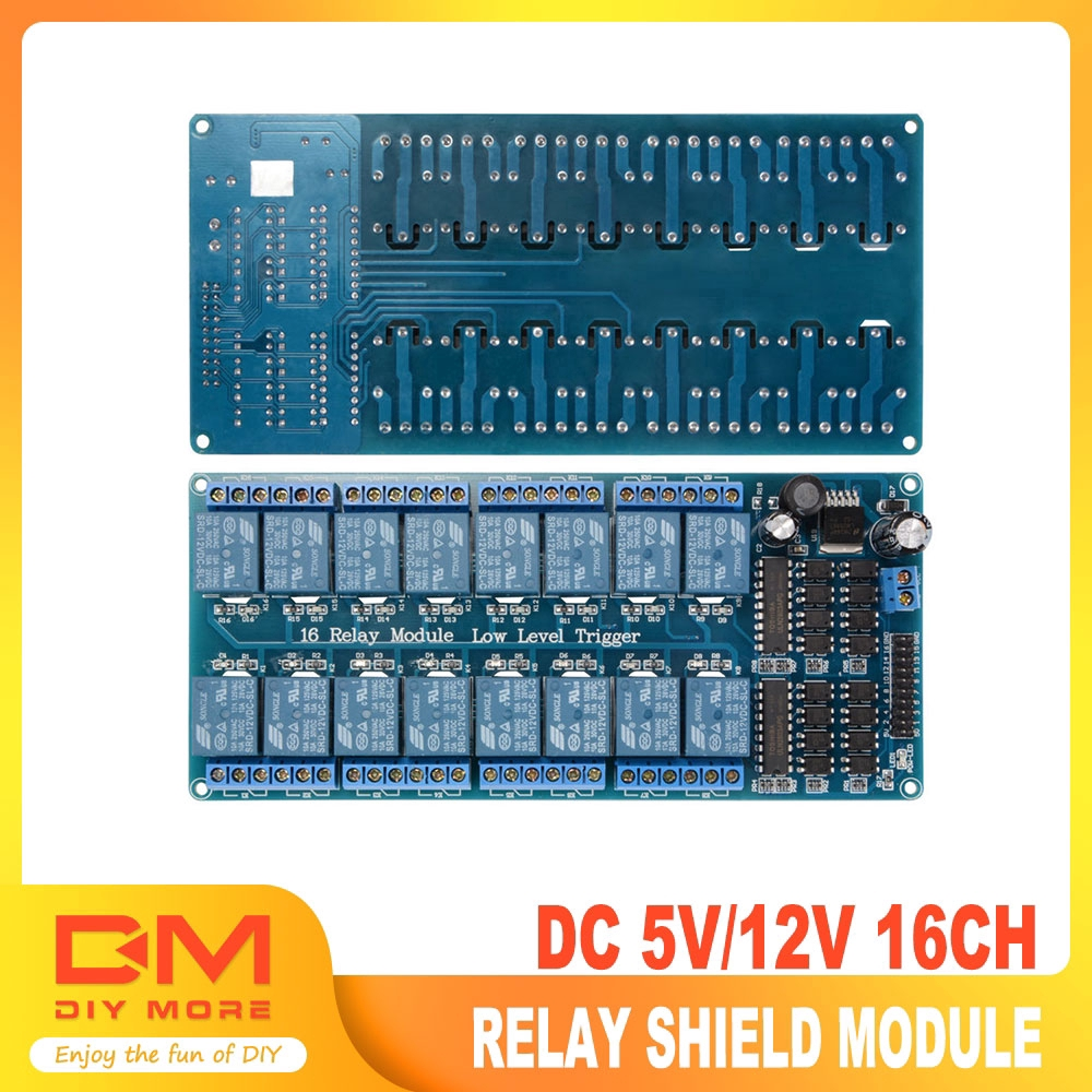 16 Channel 5V 10A Relay Shield Module with optocoupler For Arduino