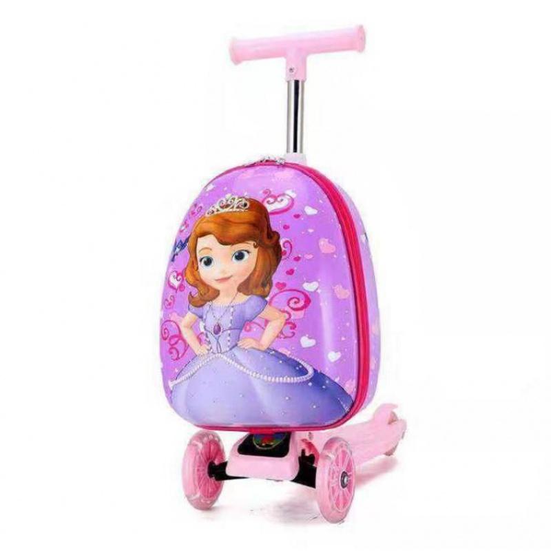 ⅸげ กระเป๋าเดินทางล้อลากใบเล็ก กระเป๋าเดินทางล้อลากเด็กสเก็ตบอร์ดกรณีรถเข็นกระเป๋าเดินทาง15นิ้วกระเป๋าล้อสากลขึ้นเครื่องเ