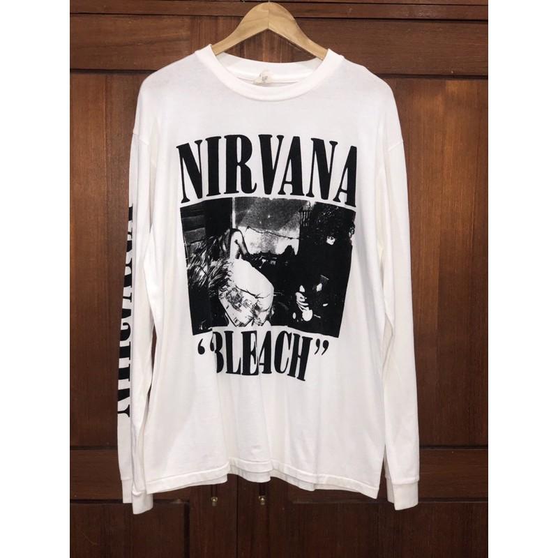 เสื้อวงแขนยาว Nirvana ปกBLEACH