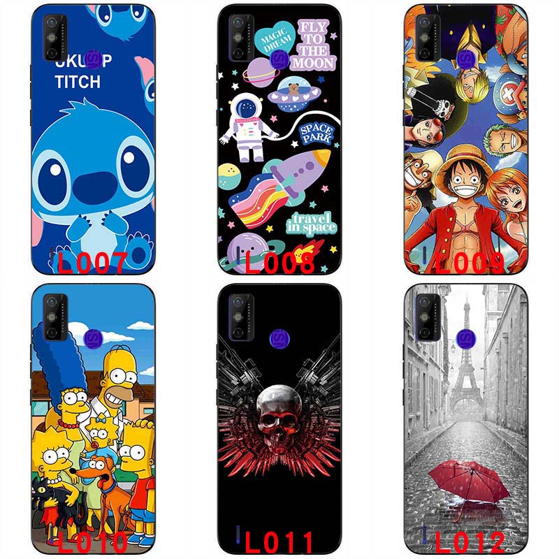 Soft silicone painted print case soft casing soft TPU Back cover For Tecno Spark 6 GO 6.52 '' Colorful Cartoon Pattern Anime Protective shell handphone case