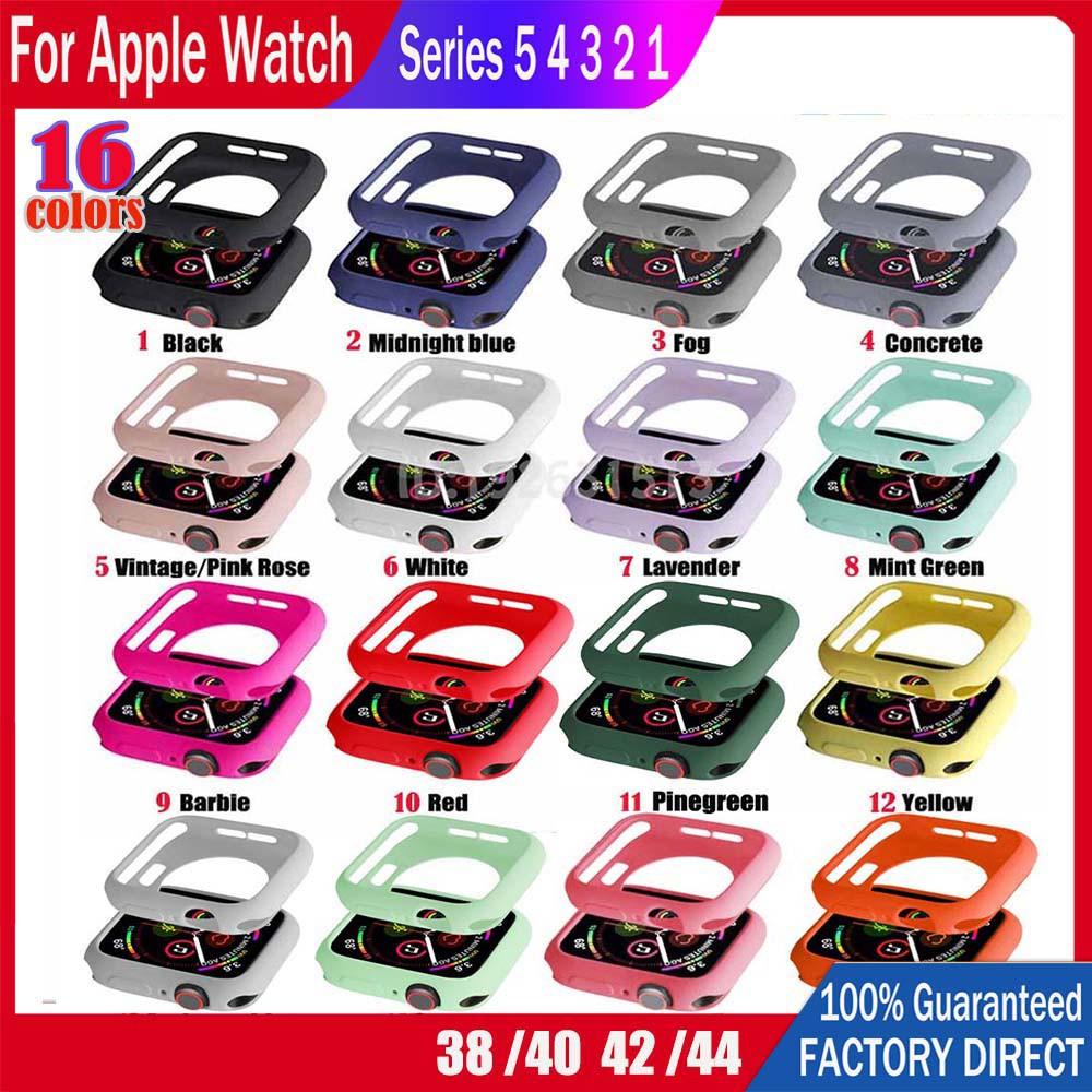 เคส Apple Watch Case เคสซิลิโคนอ่อนนุ่มสีสันสดใสปก 38mm 40mm 42mm 44mm สำหรับ iWatch Series 5/4/3/2/1