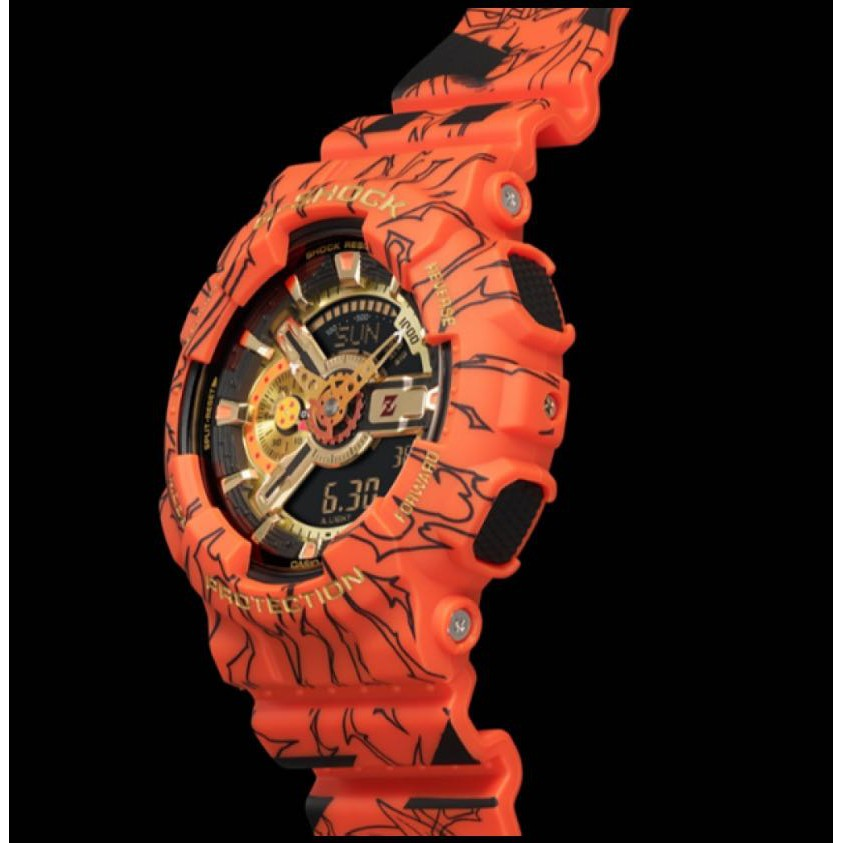 CASIO G-SHOCK นาฬิกาข้อมือแฟชั่นในรูแบบ Dragon Ball รุ่น GA-110JOB-1A4 สุดฮอตในปี2020 หน้าปัด40mm พร้อมกล่อ0