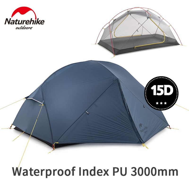 2020 New Naturehike Mongar 2 Persons Tent Waterproof 15D Nylon Fabric Camping Tent Ultralight Large Inner Space Tourist