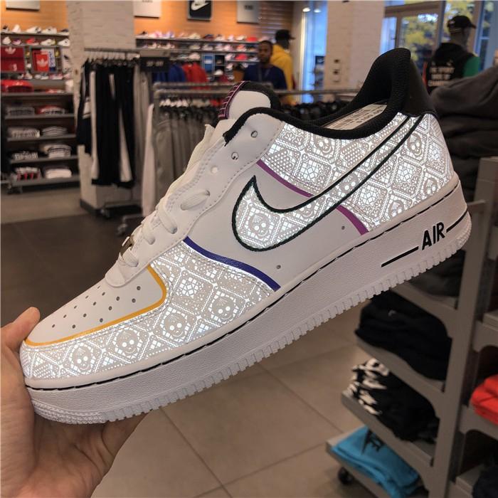 Nike Air Force 1 ต่ำ af1 ต่ำวันติดตั้ง 3M สะท้อนแสงต่ำช่วย ct1138-100 eu40-46 รองเท้ากีฬา