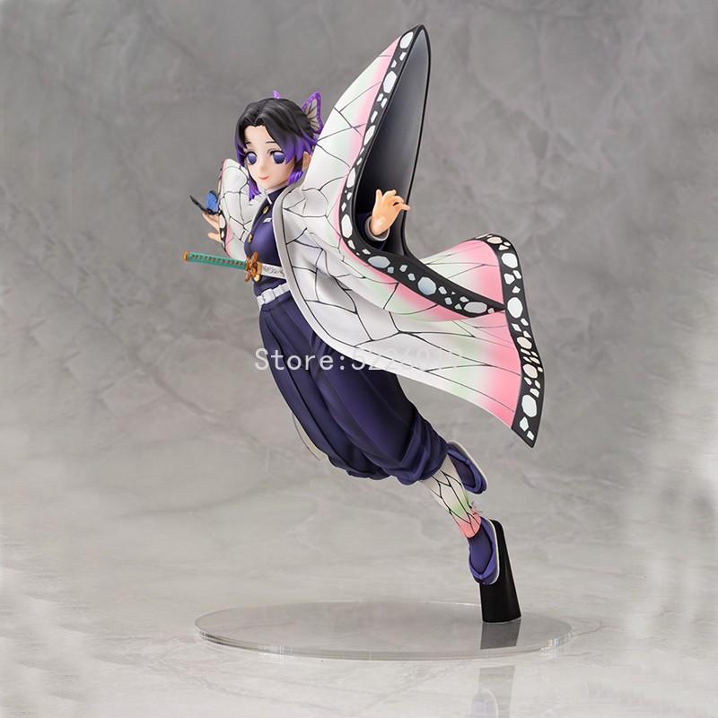 โมเดลอนิเมะ Demon Slayer Anime Figure Kochou Shinobu Action Figure Kimetsu No Yaiba Kamado Tanjirou Rengoku Kyoujurou Fi