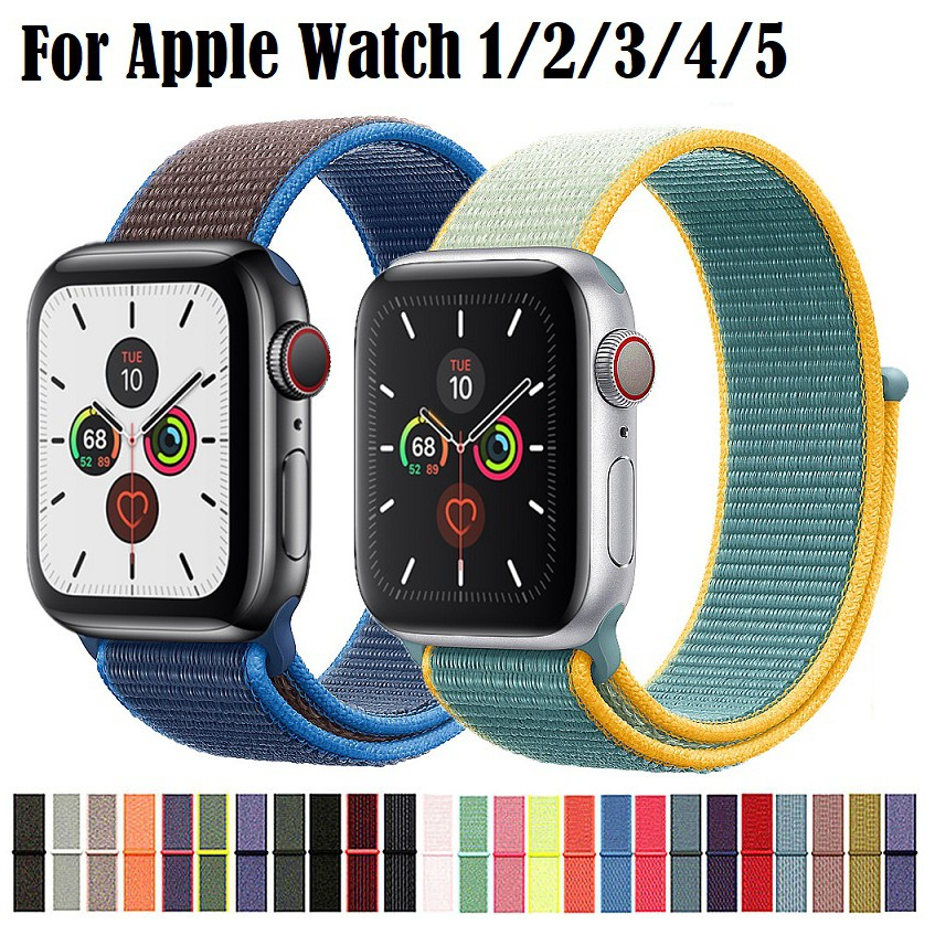 สายนาฬิกา Apple Watch ไนลอน สาย applewatch Series 1/2/3/4/5 iwatch สายนาฬิกาข้อมือ สาย 38mm 40mm 42mm 44mm Applewatch Strap