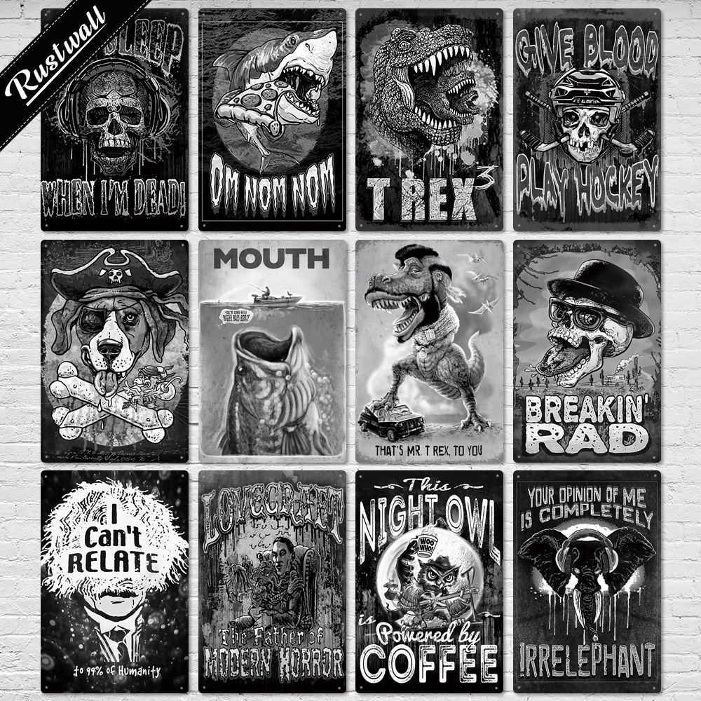2020 Monster Vintage Plaque Metal Tin Sign Retro Interior Decoration for Man Cave Bar Pub Club Wall Decor
