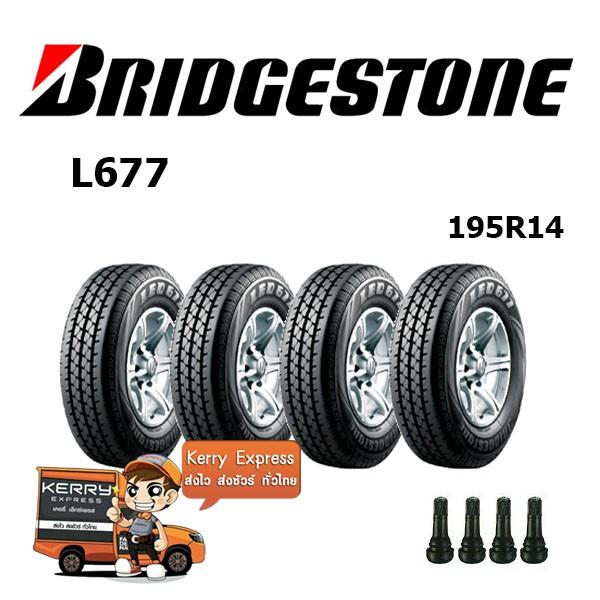 195R14 Bridgestone L677 ชุดยาง