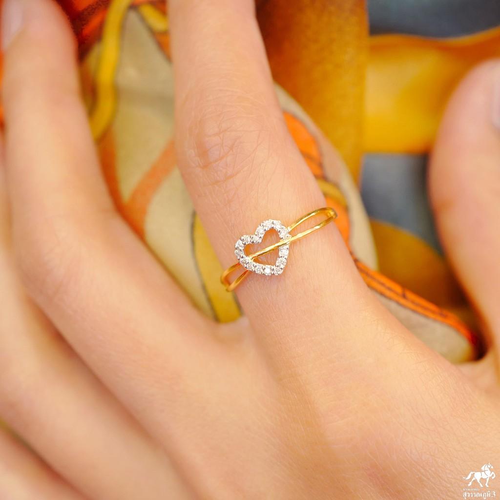 แหวนเพชรแท้ทองคำแท้ No.7 เพชรเบลเยี่ยมคัท ทองคำแท้ 9k (37.5%) ในราคาเปิดตัว ✅ ขายได้ มีใบรับประกัน