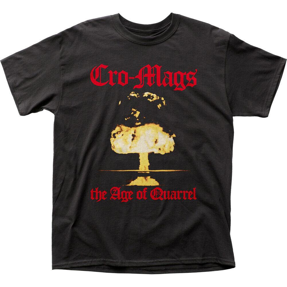เสื้อยืดแขนสั้นพิมพ์ลาย Cro -Ags สําหรับผู้ชาย