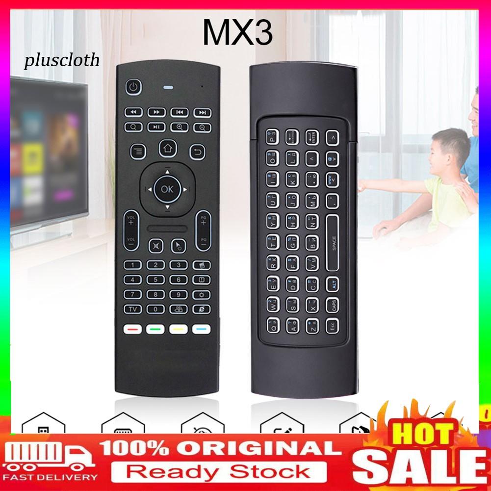 คีย์บอร์ดเมาส์แอร์ไร้สาย mx 3 2 . 4 g สําหรับ x 96 h 96 android tv box