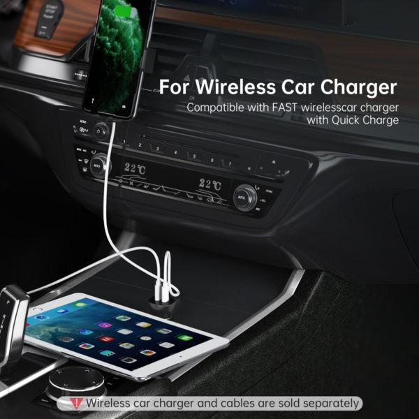 หัวชาร์จในรถ หัวชาร์จเร็วในรถ  Choetech Dual PD18+PD18 / 36w Car Charger (PD,FCP,QC) TC0008 LTgZ