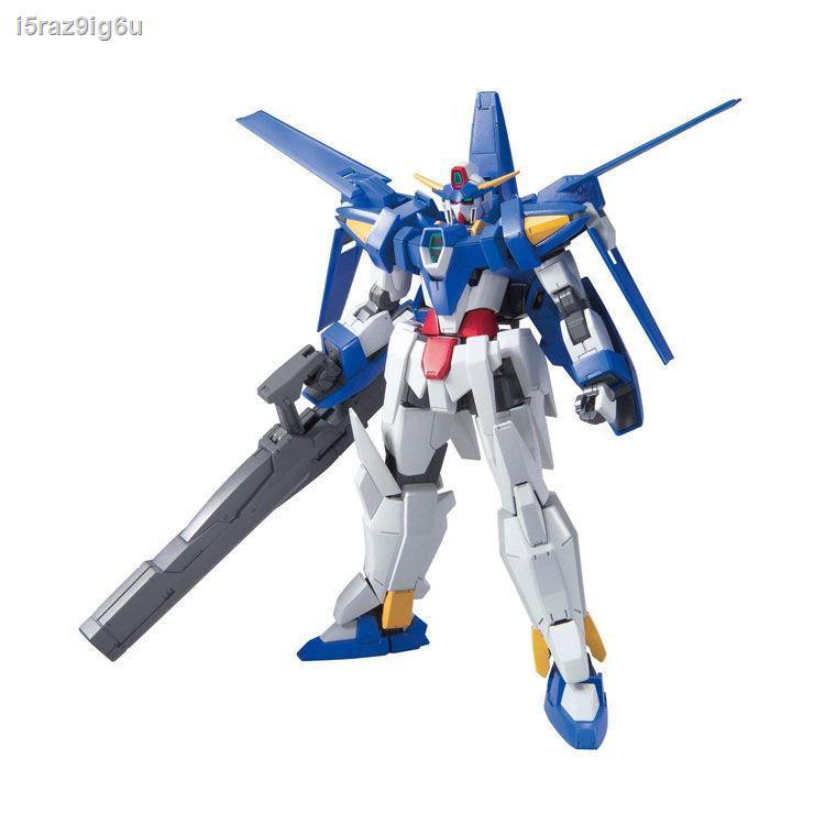 ราคาต่ำสุดLowest price❐Bandai assembly model 57386 HG AGE 21 1/144 Age-3 Basic type Gundam with stand