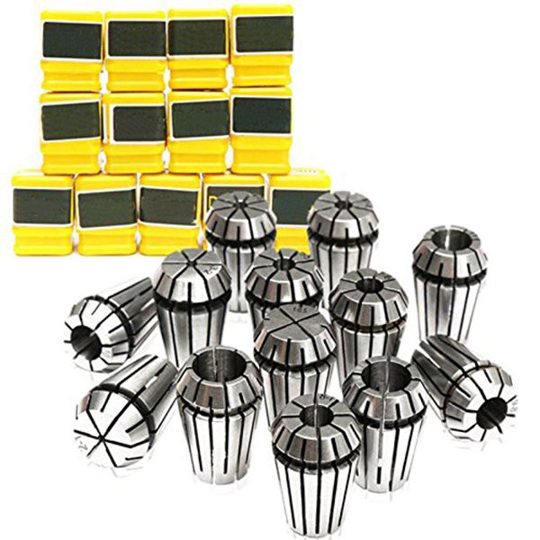 ER20 Collet Set for Milling Cutters for CNC Motor 13 Pieces from 1mm to 13mm