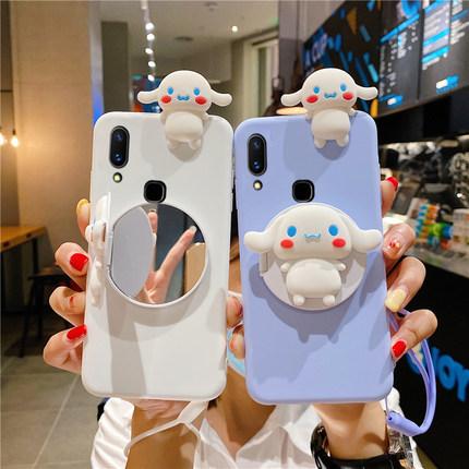 Cute Cartoon Mirror Samsung Galaxy J4+ J6+ A8+ A6+ A7 A9 J8 J3 J5 J2 Pro 2018 เคสโทรศัพท์ J4 J6 A8 A6 plus J7 2015 2016 A5 2017 การ์ตูนน่ารัก Silicone TPU Soft Case เคสป้องกัน
