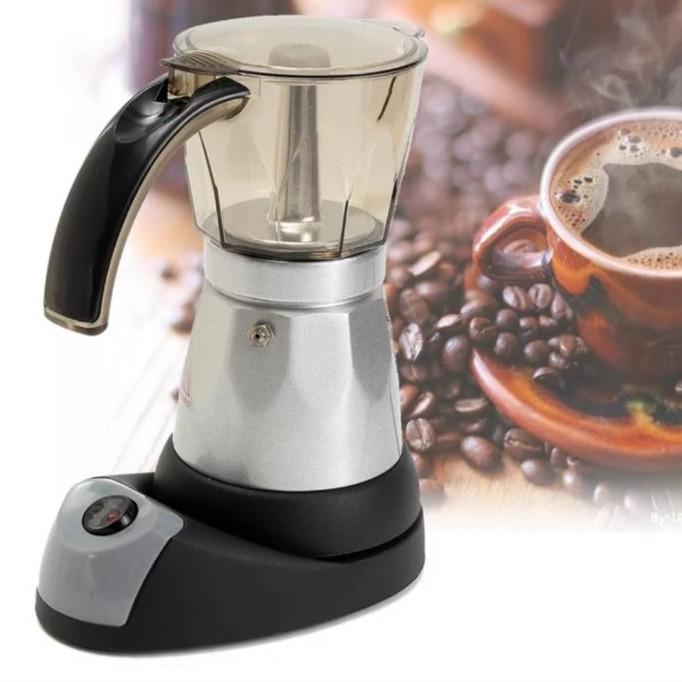 ShopE เครื่องชงกาแฟ เครื่องทำกาแฟ ไฟฟ้า  Mokapot 6คัพ ใช้ ไฟฟ้า ***สินค้าพร้อมส่ง*** เครื่องทำกาแฟ เครื่องต้มกาแฟ กาแฟสด