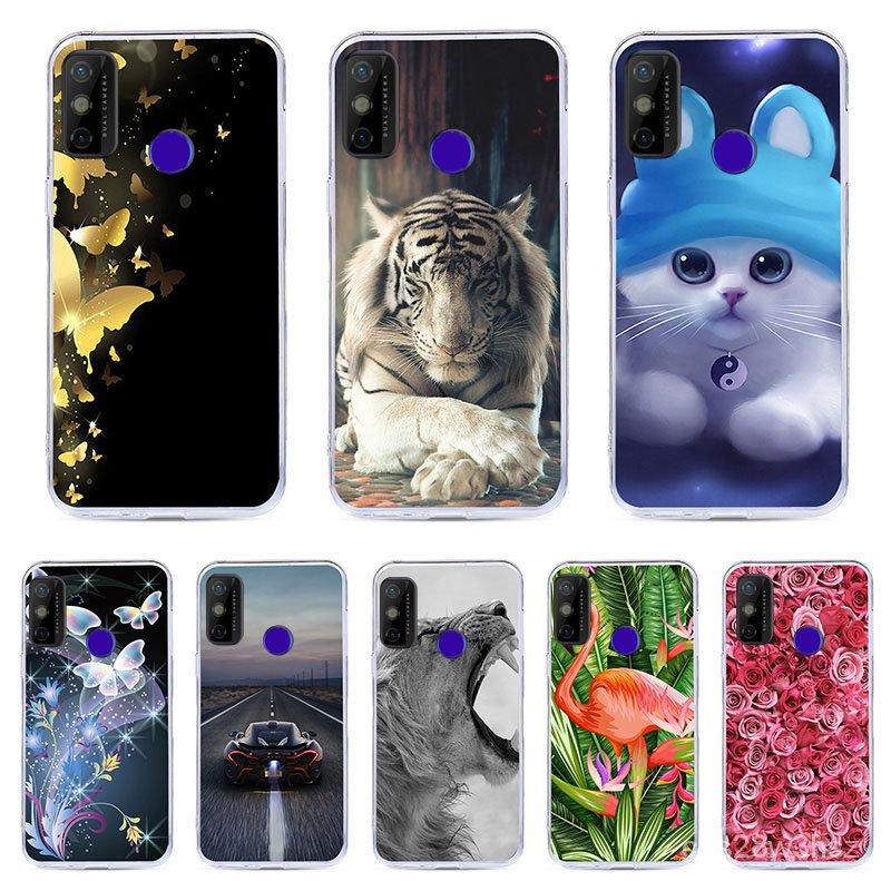CALROVTE Case For Tecno Spark 6 GO Silicon TPU Cover For Tecno Spark 6 GO Cat Animal Shell Bag Housing Phone Cases