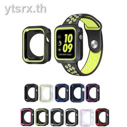ซิลิโคนครอบใสฮาร์ด caseเคส for Apple AirPods เคสAirPods1/2 Case Suitable for applewatch protective shell iwatch5/4/3/2/generation Apple Watch two-color silicone cover 40mm44/40/38 series4 soft creative sports personality