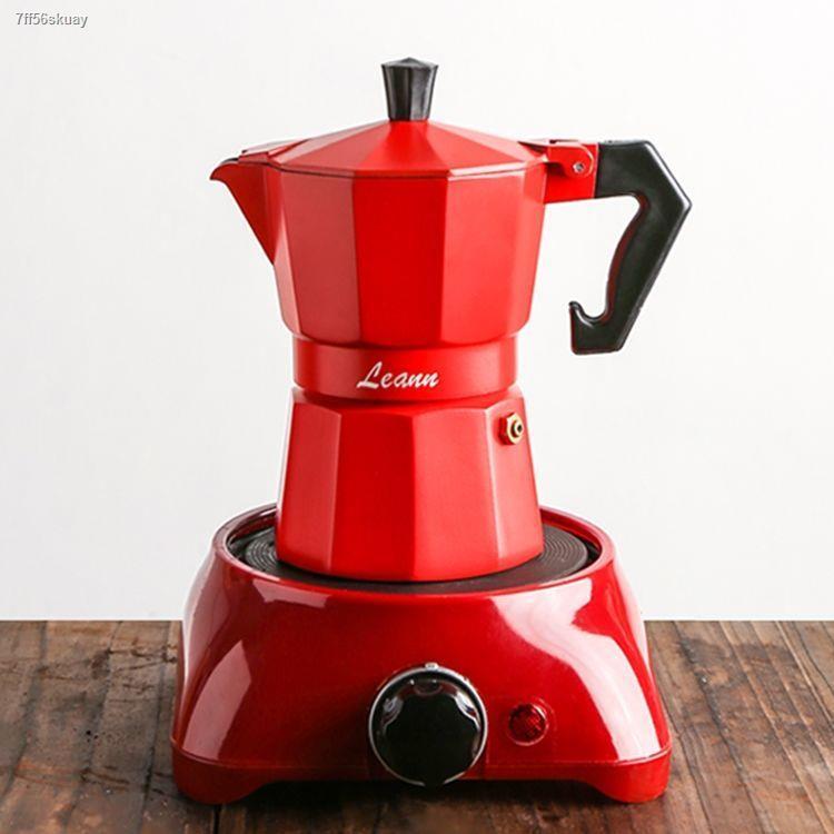 หม้อกาแฟหูแขวน❀เครื่องชงกาแฟ Moka pot การทำกาแฟ เครื่องชงกาแฟเอสเพรสโซขนาดเล็กของใช้ในครัวเรือนอิตาลี