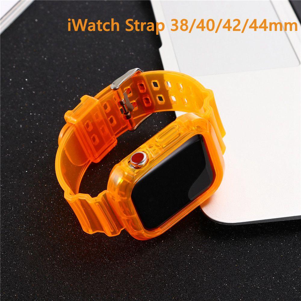 สายนาฬิกาข้อมือ ซิลิโคน . สําหรับ Apple Watch Series 5 4 3 2 1 ที่มีขนาด 38 / 40 / 42 / 44 มม