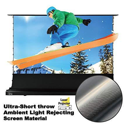 "VividStorm Motorized Floor Rising Projection Screen 100"" for 4K  Laser Projector, Ultra-Short Throw ALR Screen"