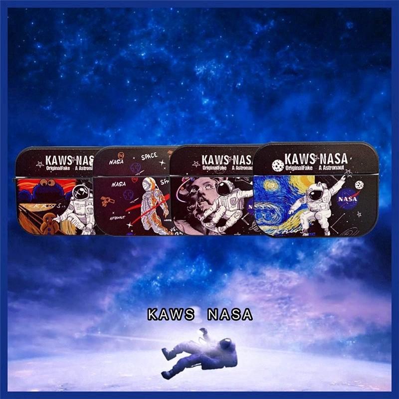 เคส 🔥 Cool Kaws NASA 3D Box Soft Airpods1/2 Airpods Pro Protection Case Soft Silicone Case Drop Resistant