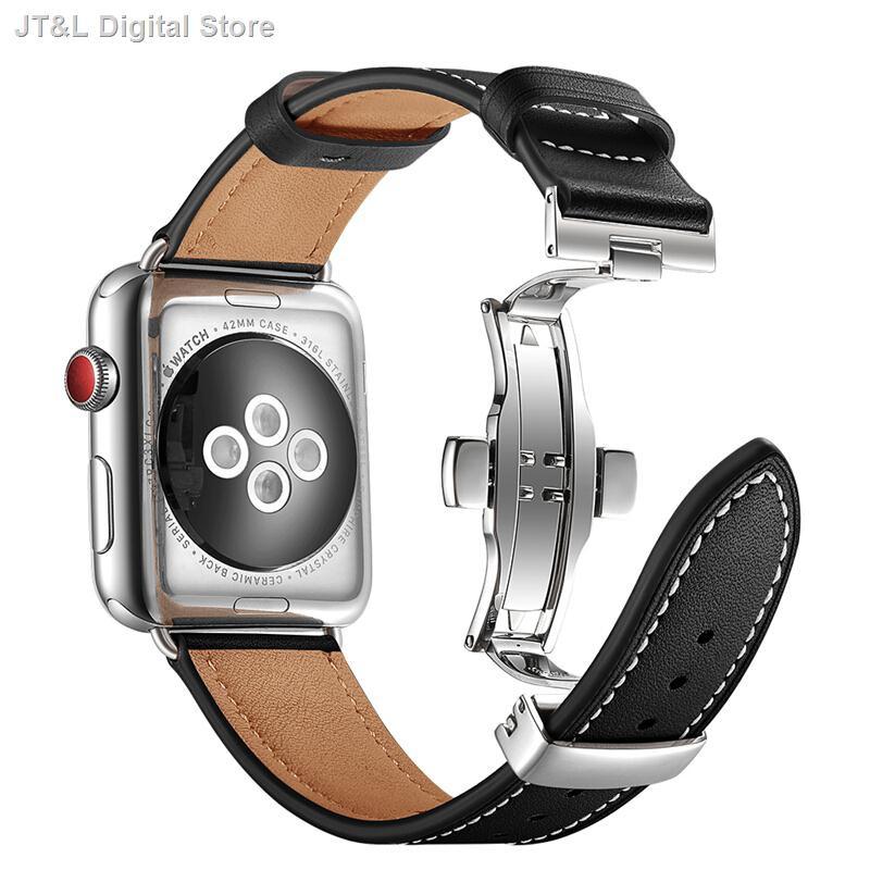 【อุปกรณ์เสริมของ applewatch】✐บังคับ iwatch456 รุ่นหนังผีเสื้อสายรัด Apple watch SE6 สาย Applewatch6 หนัง