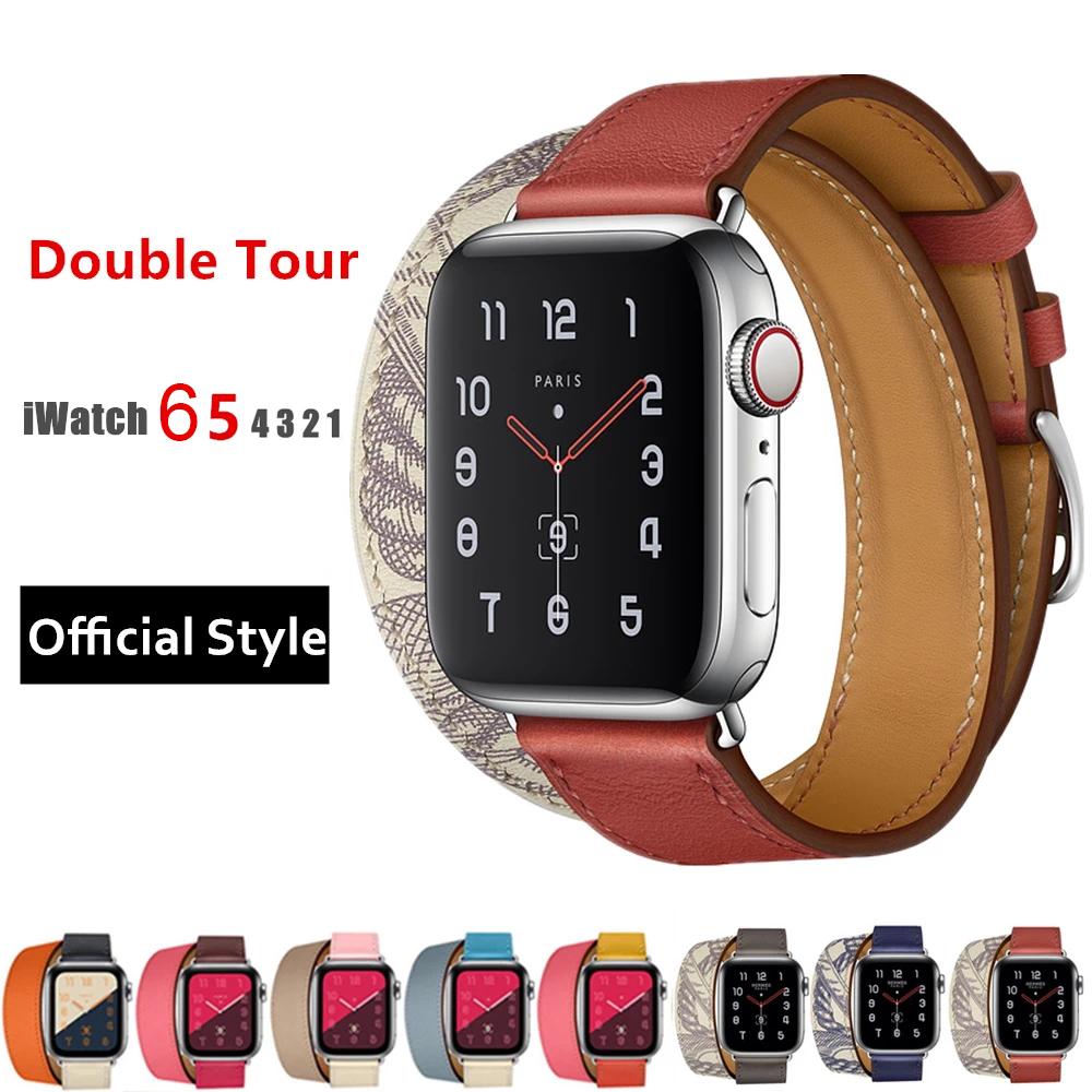Apple Watch สายนาฬิกา Leather Strap for Iwatch สาย Apple watch Series 6 5 4 3 2 1Apple Watch SE สายนาฬิกาข้อมือ for appl
